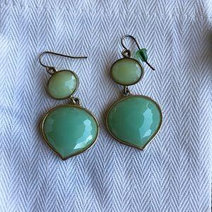 Mint two toned dangle earrings